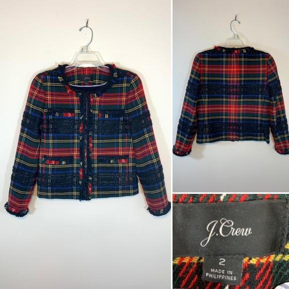 J. Crew Jackets & Blazers - J.Crew Stewart Tartan jacket. Size 2